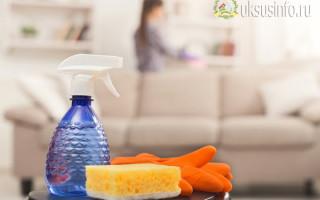 Как правильно почистить диван уксусом и содой