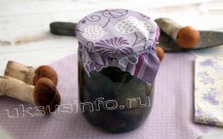 Маринованные подосиновики с яблочным уксусом (опята, боровики, моховики)