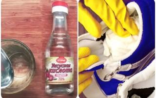 Как правильно обработать обувь от грибка уксусом