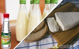 Нежнейший домашний сыр из молока и уксуса в домашних условиях
