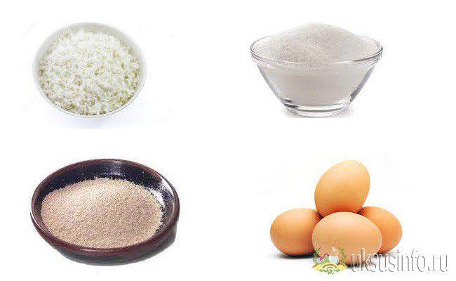 Ингредиенты для домашнего рецепта