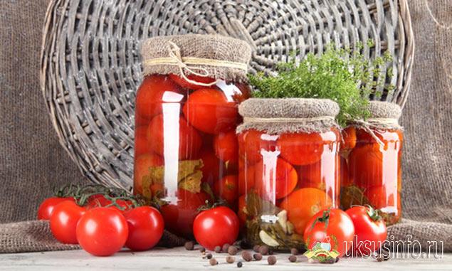 Маринованные помидоры с уксусом