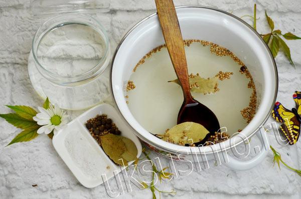 Подготовка маринада