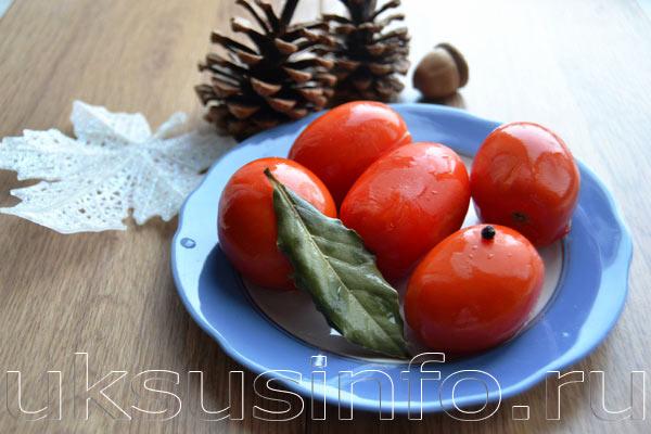 Малосольные помидоры с уксусом