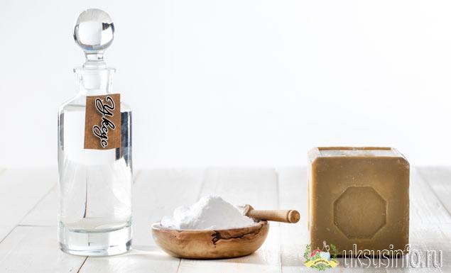 Чистим духовку уксусом, мылом и содой