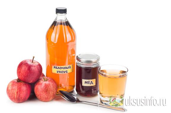 Натуральный яблочный уксус и мед