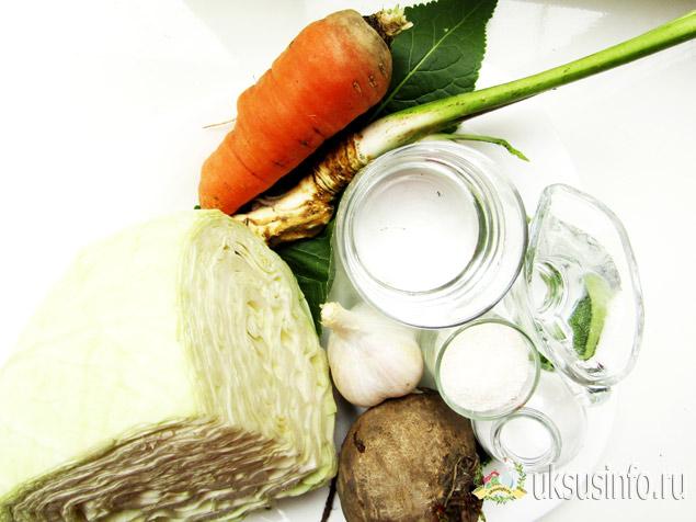 Ингредиенты для рецепта с хреном
