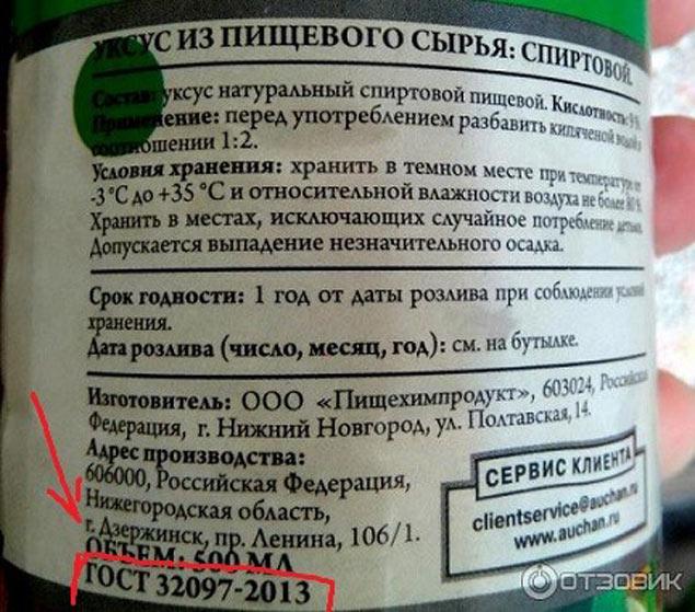 ГОСТ натуральной уксусной кислоты